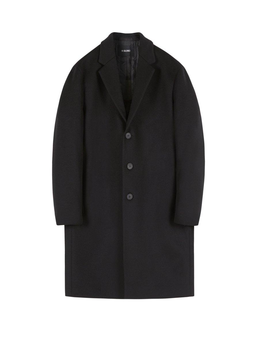 인사일런스(INSILENCE) MORRIS CASHMERE COAT (black)