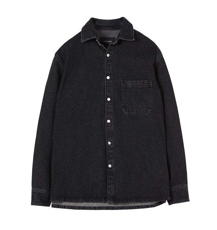 인사일런스(IN SILENCE) 오버사이즈 데님 셔츠 BLACK