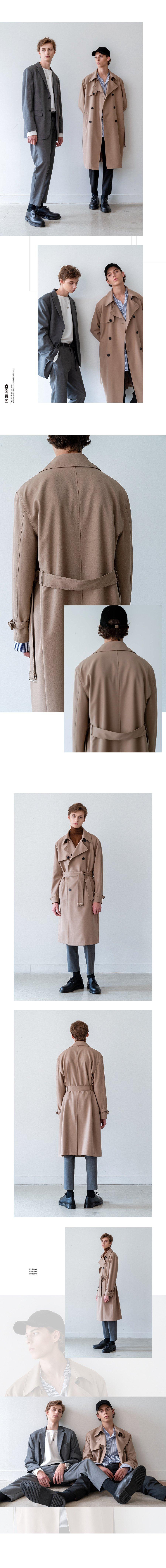 인사일런스(INSILENCE) SLOSH WOOL TRENCH COAT (beige)