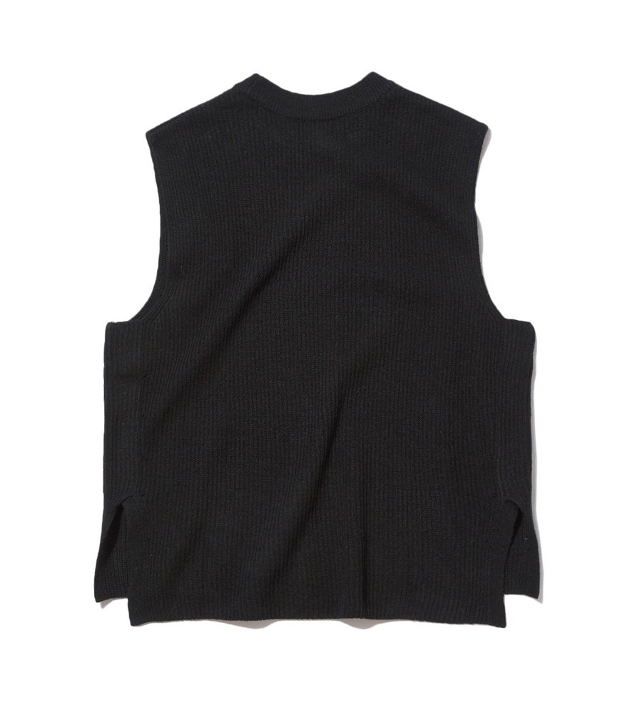 인사일런스(INSILENCE) WOOL KNIT VEST (black)