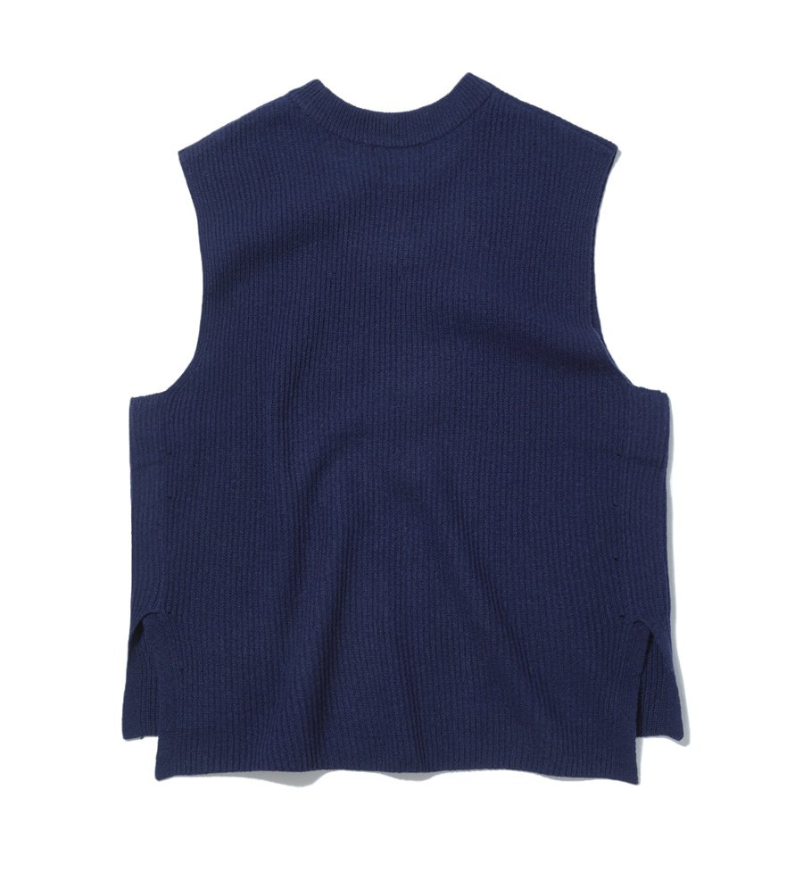 인사일런스(IN SILENCE) WOOL KNIT VEST (navy)