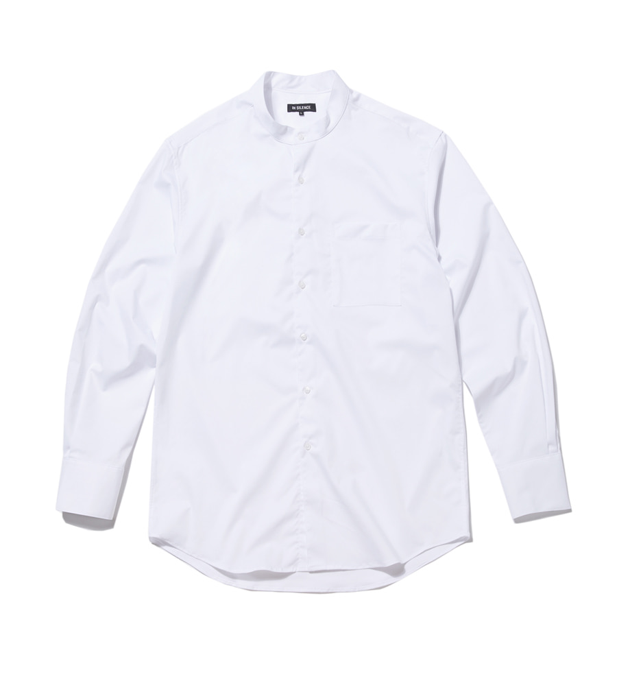 인사일런스(INSILENCE) OVERSIZED GRANDAD SHIRT (white)