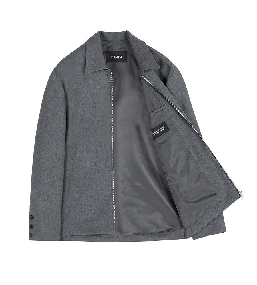 인사일런스(INSILENCE) FRONT ZIP JACKET (grey)