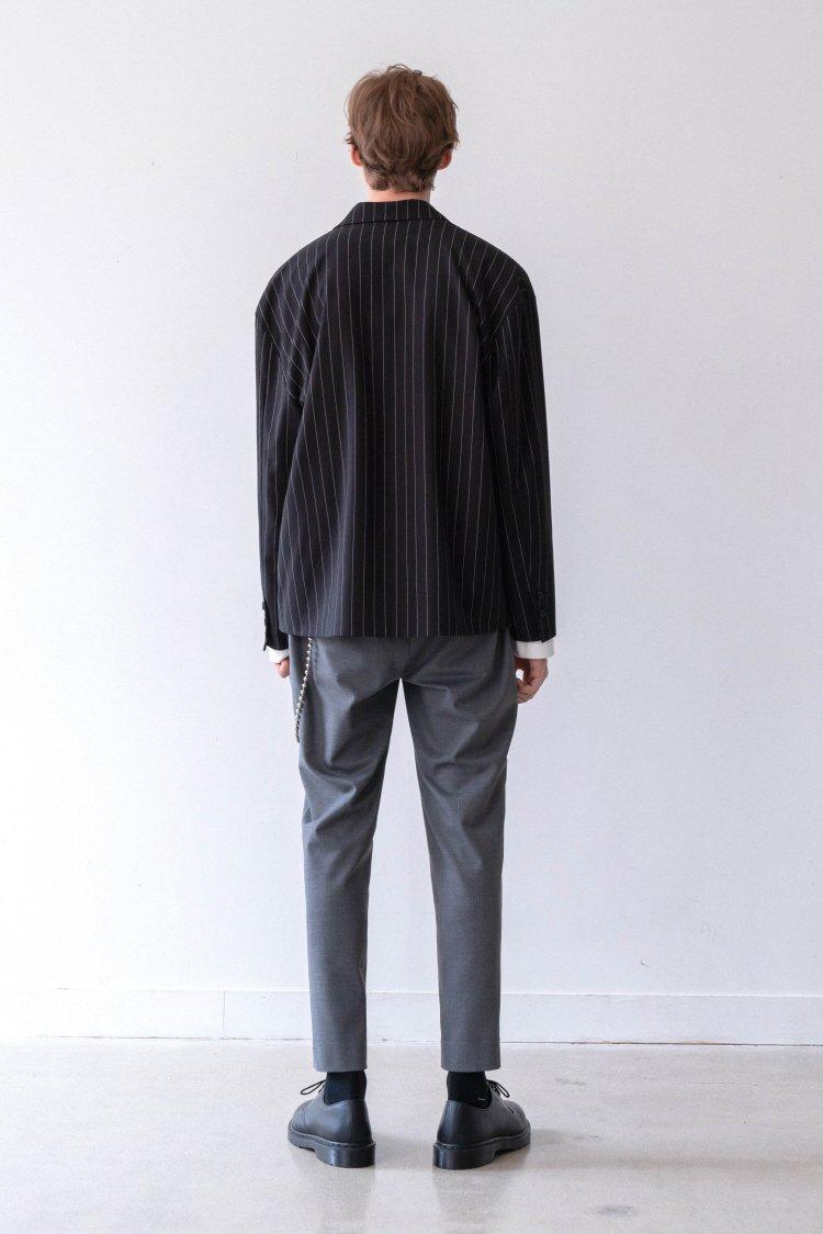 인사일런스(INSILENCE) FRONT ZIP JACKET (stripe)