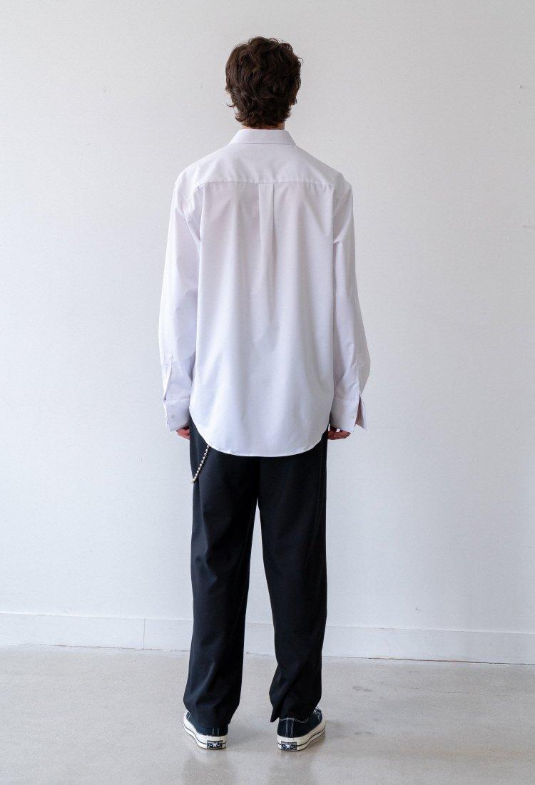 인사일런스(INSILENCE) OVERSIZED DRESS SHIRT (white)
