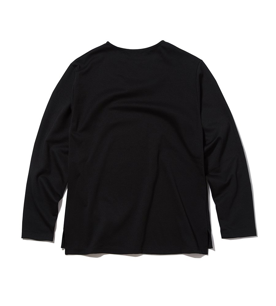 인사일런스(IN SILENCE) BASIC PONTE LONG SLEEVES (black)