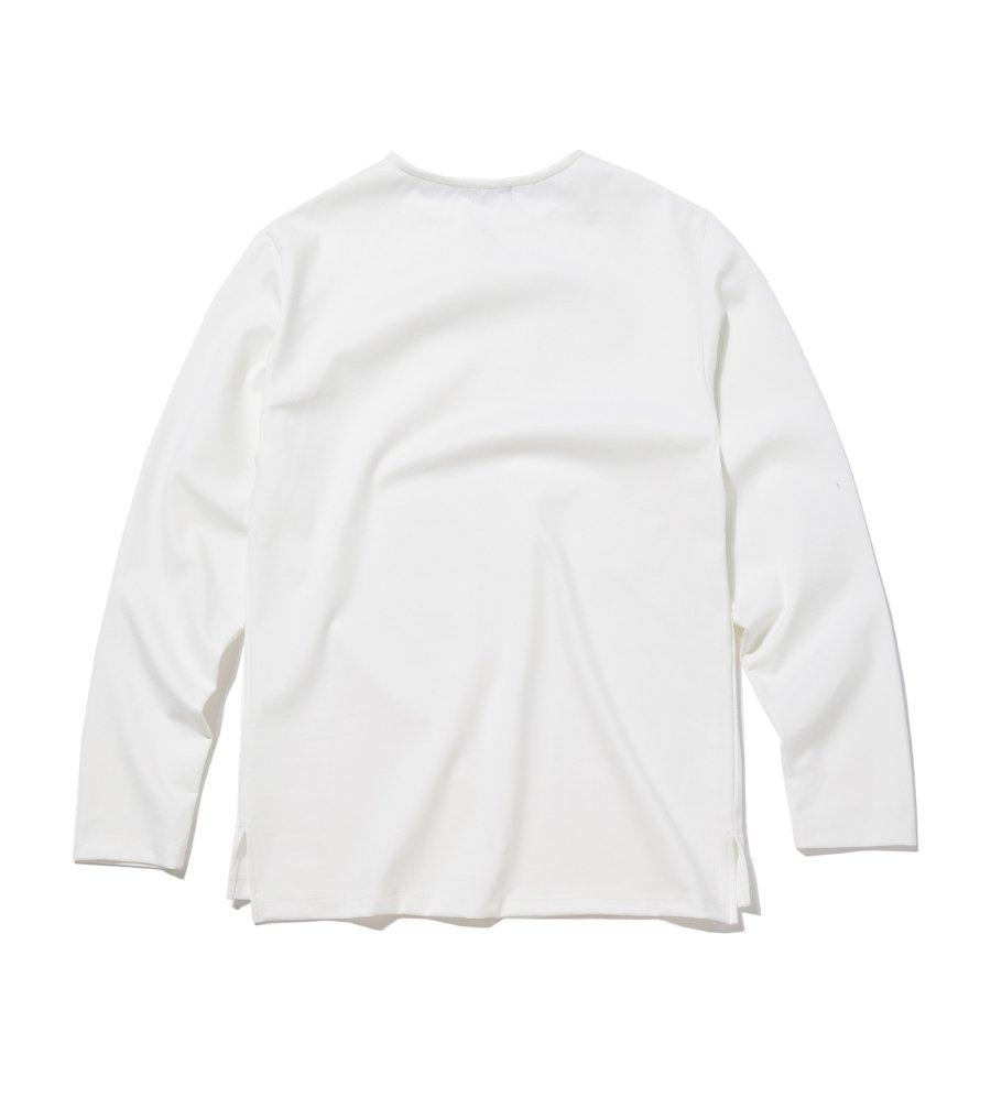 인사일런스(INSILENCE) BASIC PONTE LONG SLEEVES (white)