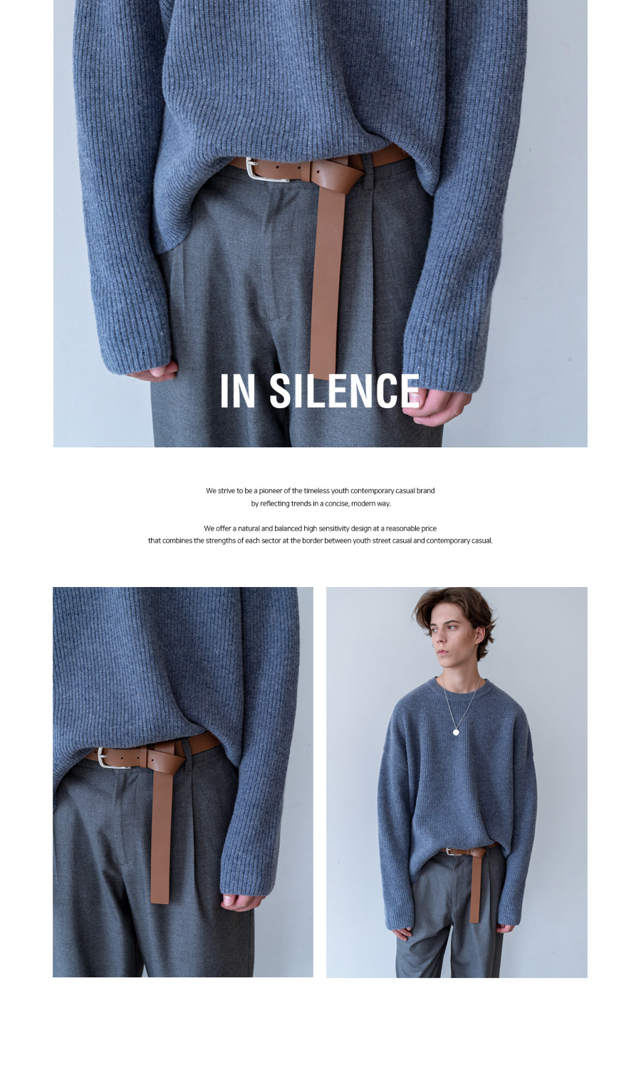 인사일런스(INSILENCE) LONG LEATHER BELT (brown)