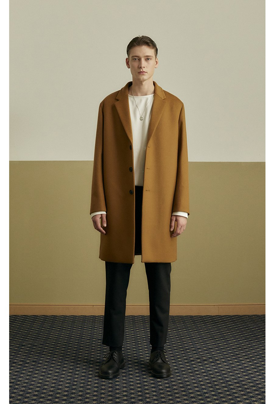 인사일런스(INSILENCE) MORRIS CASHMERE COAT (caramel brown)
