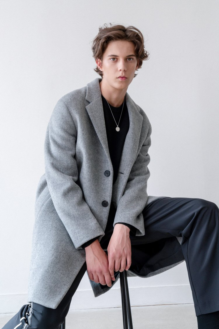 인사일런스(INSILENCE) MORRIS CASHMERE COAT (grey)