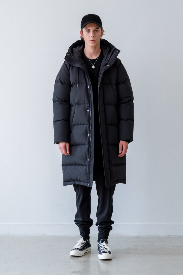 인사일런스(INSILENCE) ARCTIC LONG DOWN PARKA (black)