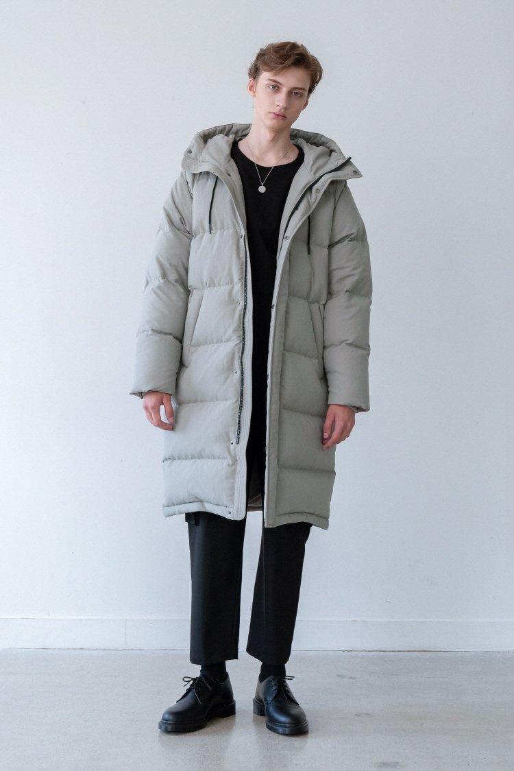 인사일런스(INSILENCE) ARCTIC LONG DOWN PARKA (khaki grey)