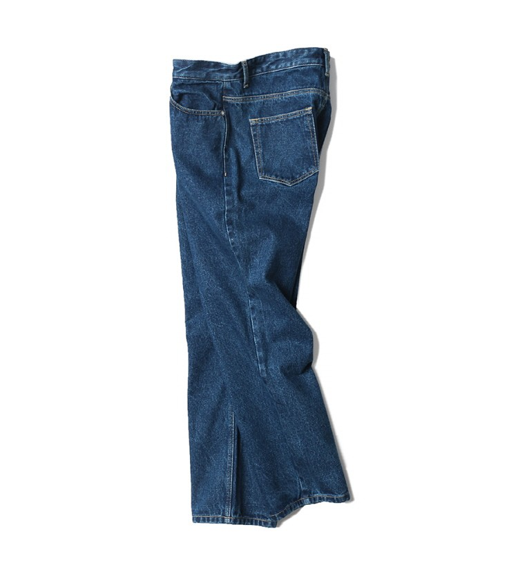 인사일런스(INSILENCE) TAPERED CROP JEANS (blue)