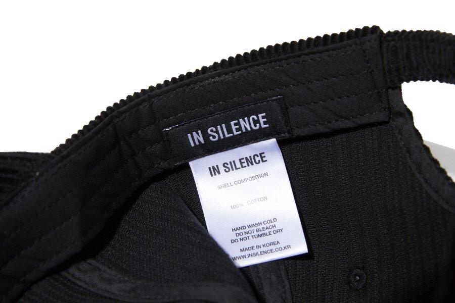 인사일런스(INSILENCE) CORDUROY BALL CAP (black)