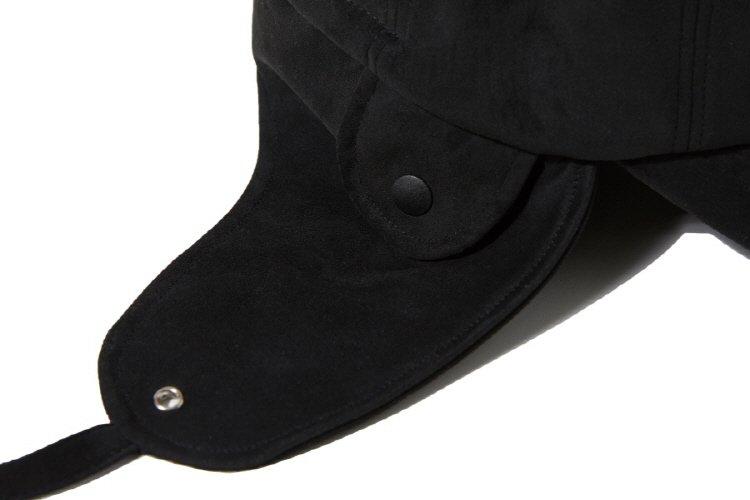 인사일런스(INSILENCE) SUEDE EAR FLAP CAP (black)