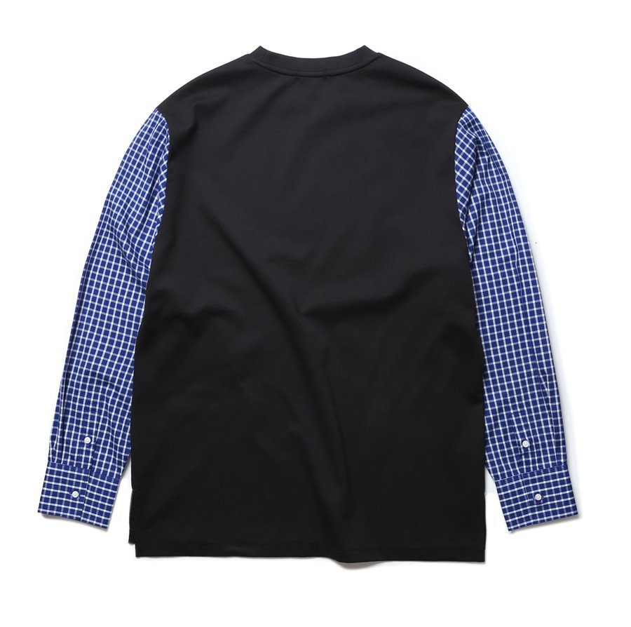 인사일런스(INSILENCE) CHECK SLEEVE PONTE (black)
