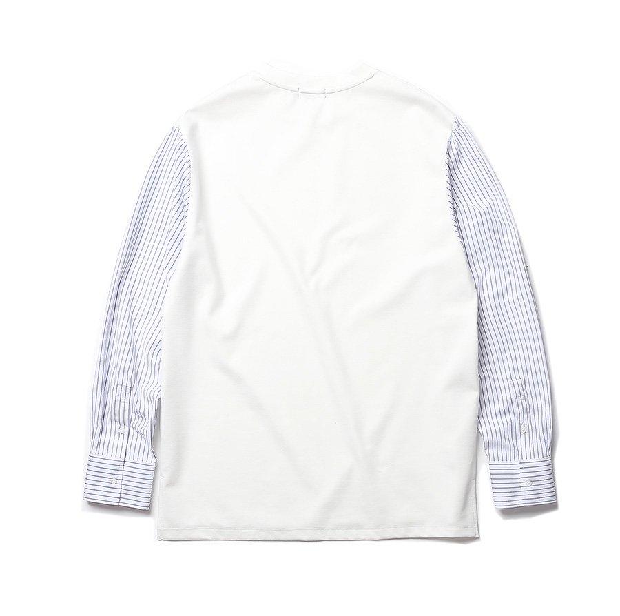 인사일런스(INSILENCE) STRIPE SLEEVE PONTE (white)