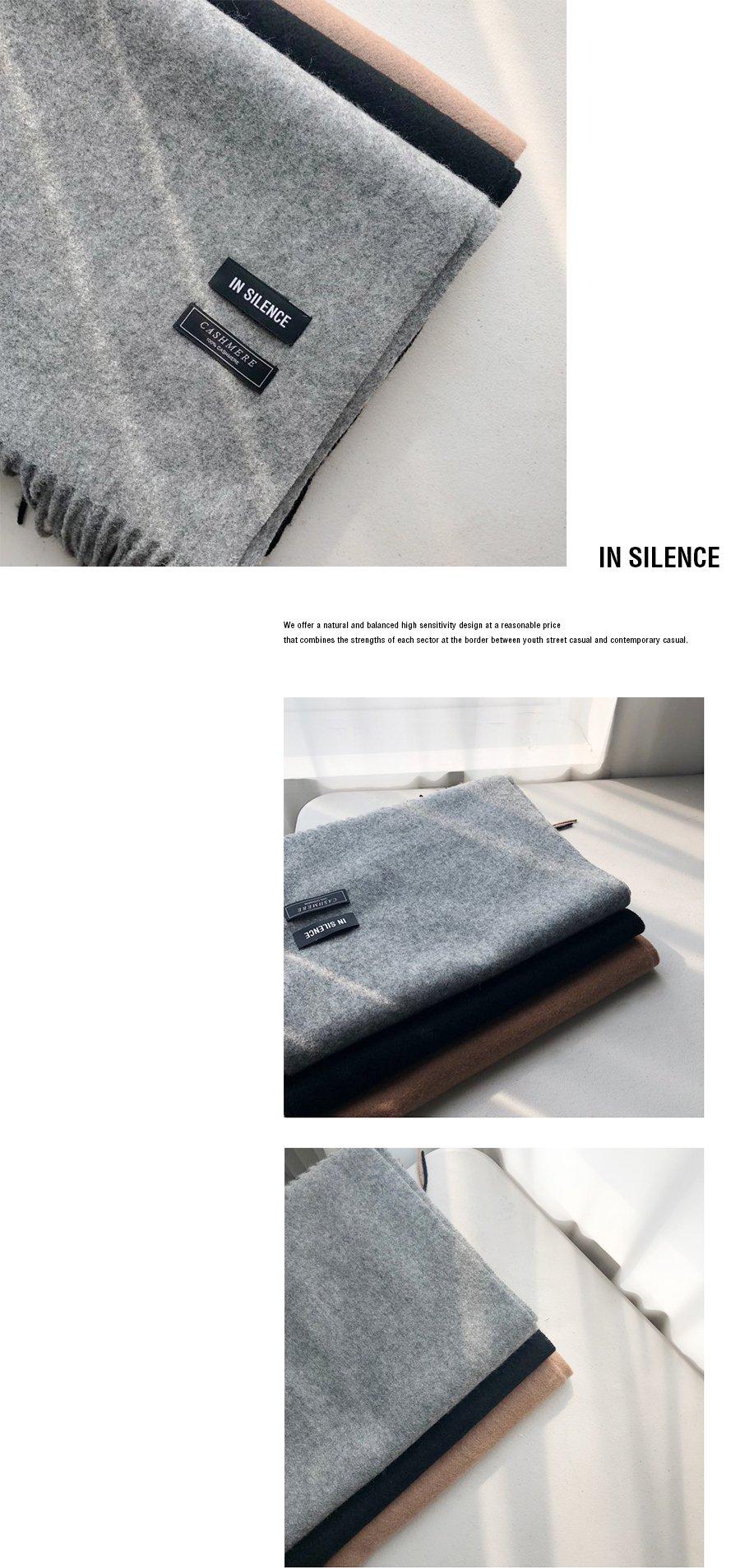 인사일런스(INSILENCE) CASHMERE MUFFLER (grey)