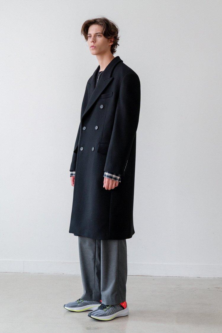 인사일런스(INSILENCE) CASHMERE DOUBLE TAILORED COAT (black)