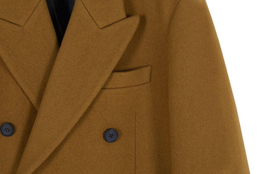 인사일런스(INSILENCE) CASHMERE DOUBLE TAILORED COAT (caramel brown)