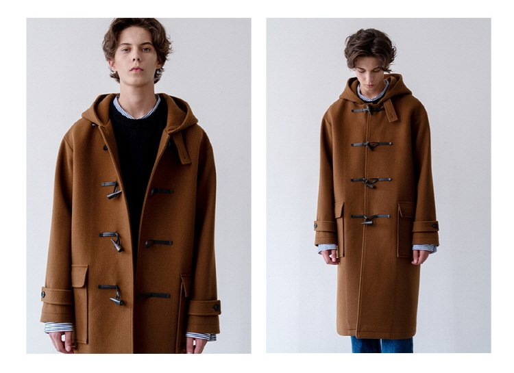 인사일런스(INSILENCE) OVERSIZED DUFFLE COAT (brown)