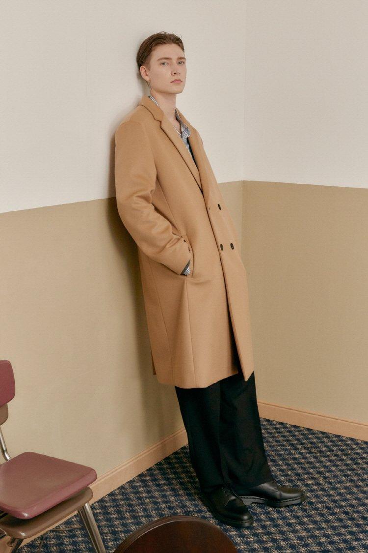 인사일런스(INSILENCE) CASHMERE LONG DOUBLE COAT (beige)