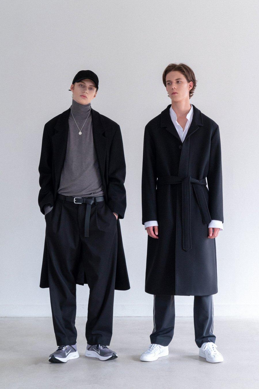 인사일런스(INSILENCE) MARCUS CASHMERE ROBE COAT (black)