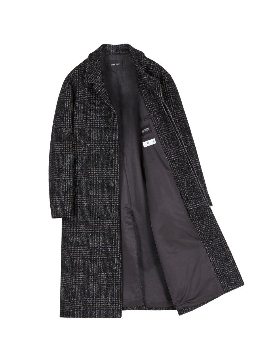 인사일런스(IN SILENCE) MARCUS ROBE COAT (grey check)
