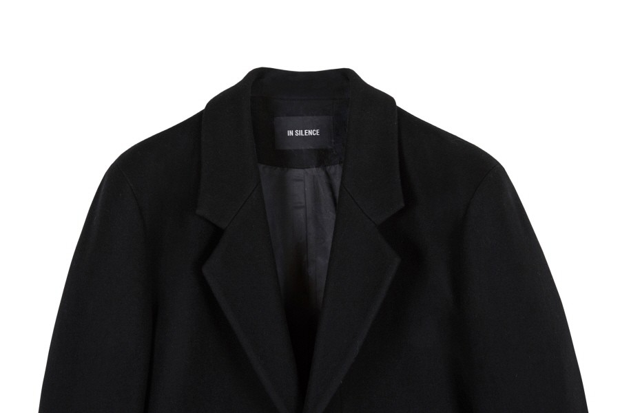 인사일런스(INSILENCE) CASHMERE TAILORED COAT (black)