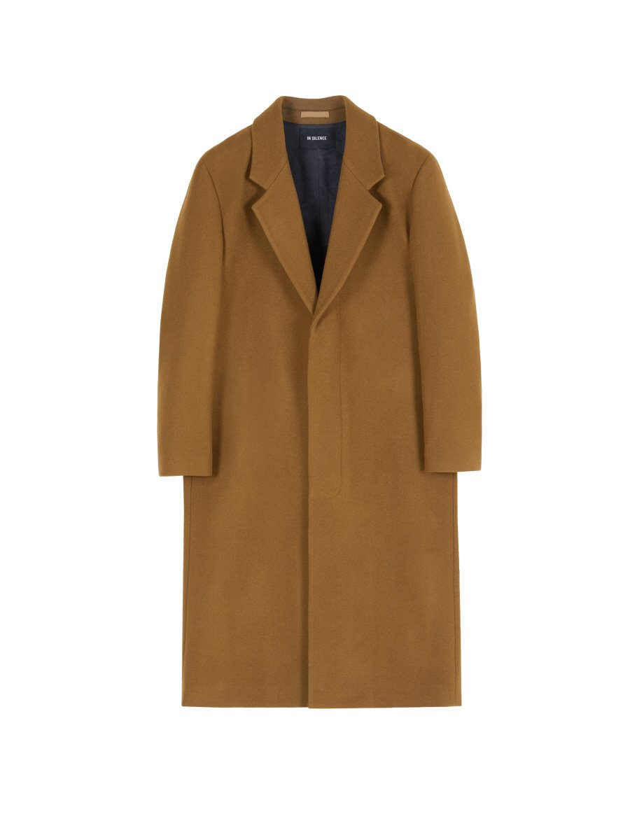 인사일런스(INSILENCE) CASHMERE TAILORED COAT (caramel brown)
