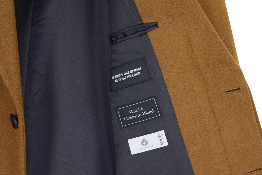 인사일런스(INSILENCE) CASHMERE TAILORED COAT (caramel brown)