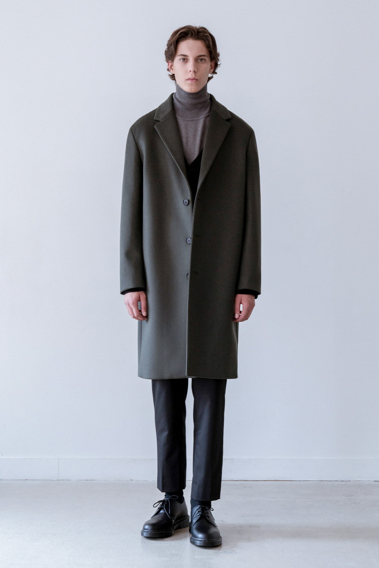 인사일런스(IN SILENCE) SOLIST OVERSIZE CASHEMERE COAT (dark green)