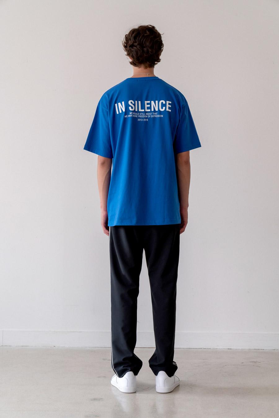 인사일런스(INSILENCE) OG 로고 티셔츠 BLUE