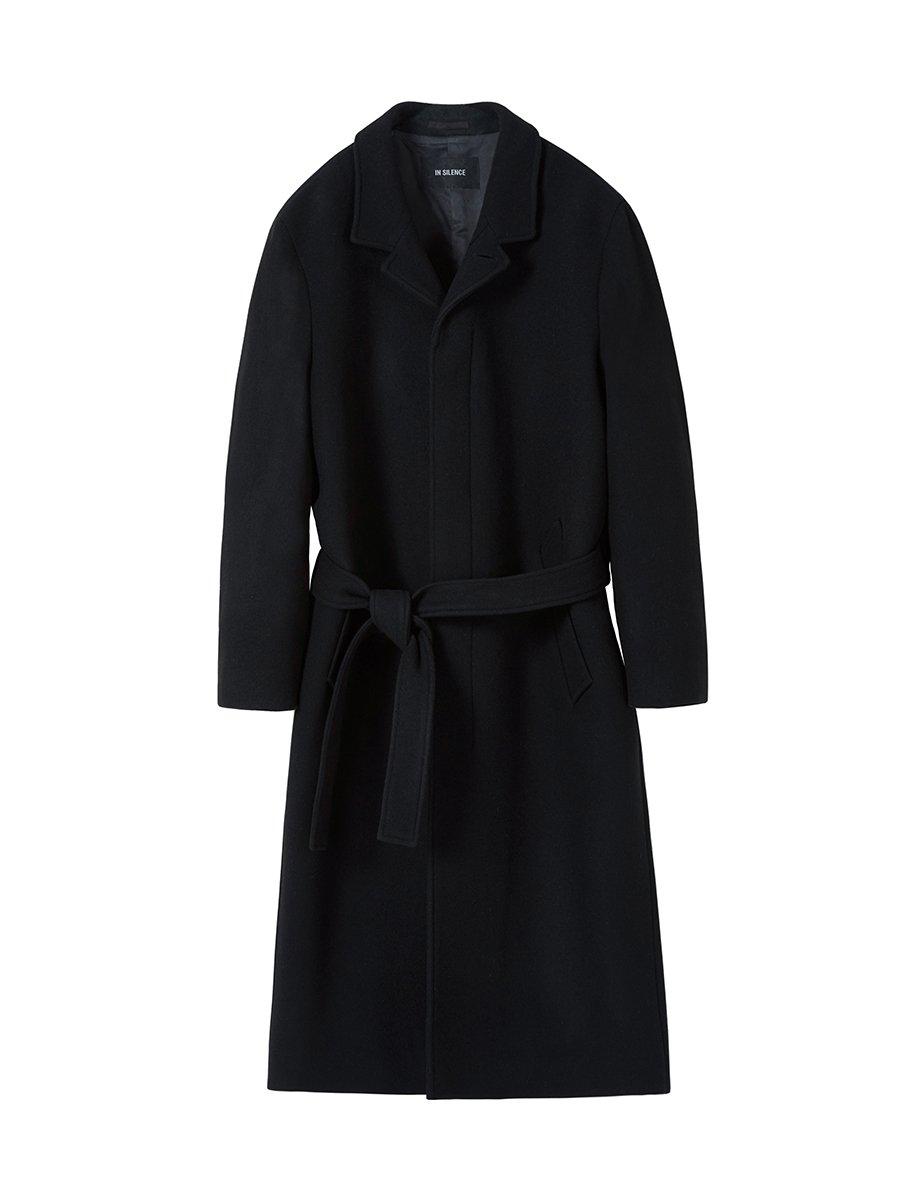 인사일런스(IN SILENCE) 마커스 캐시미어 로브 코트 BLACK