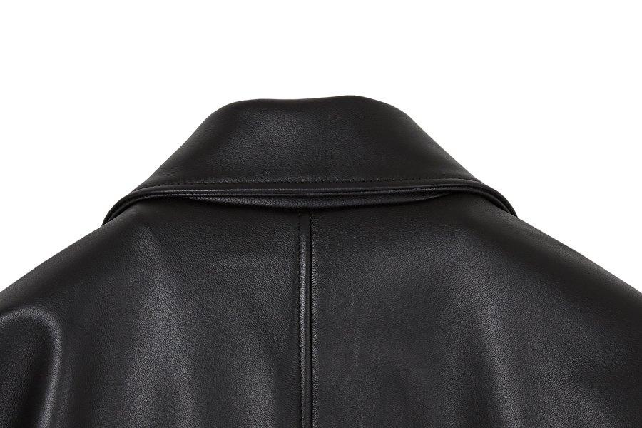 인사일런스(INSILENCE) 램스킨 블루종 BLACK