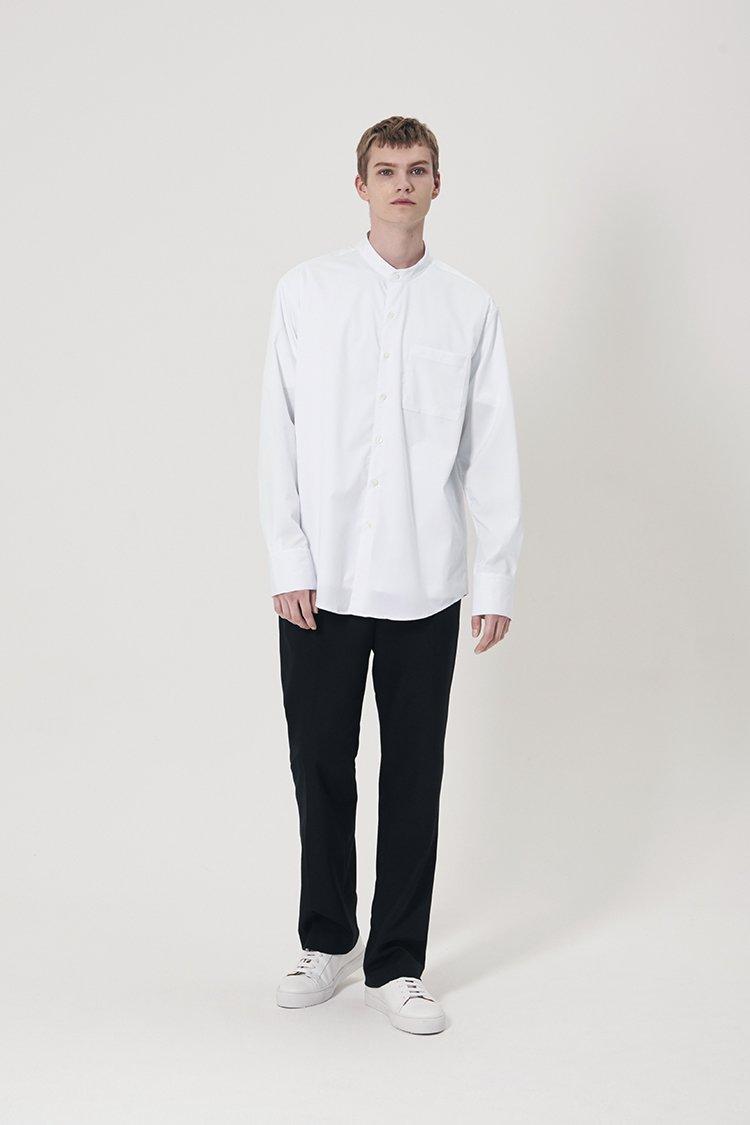 인사일런스(INSILENCE) 오버사이즈 그랜댓 셔츠 WHITE