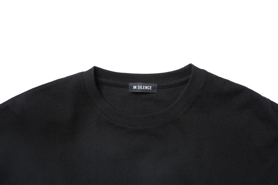 인사일런스(INSILENCE) 콘트라스트 롱 슬리브 BLACK