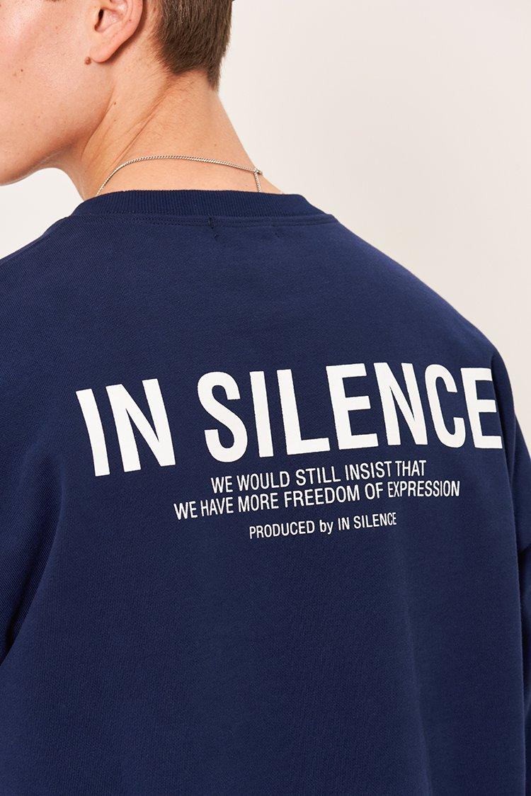 인사일런스(IN SILENCE) OG 로고 스웻셔츠 NAVY
