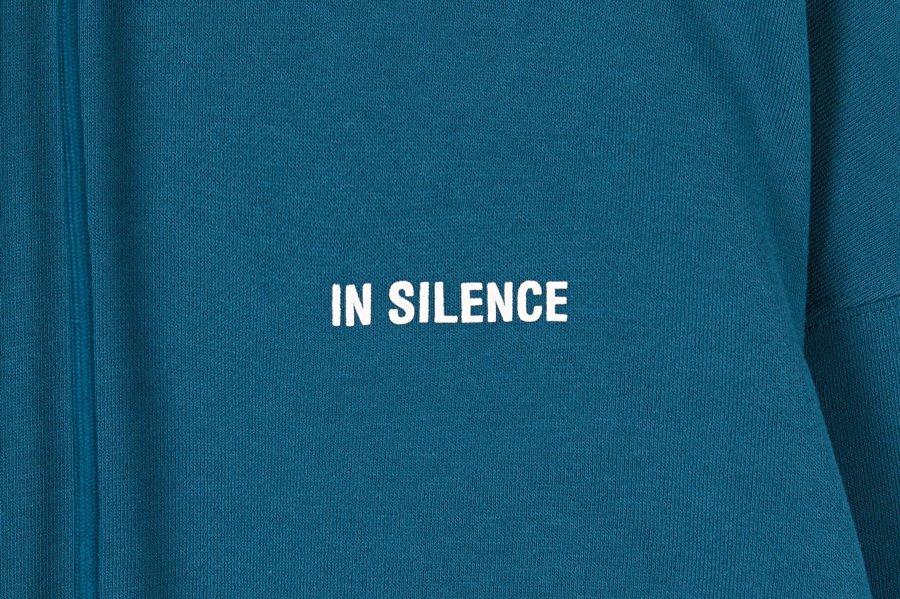 인사일런스(IN SILENCE) OG 로고 후디 BLUE GREEN