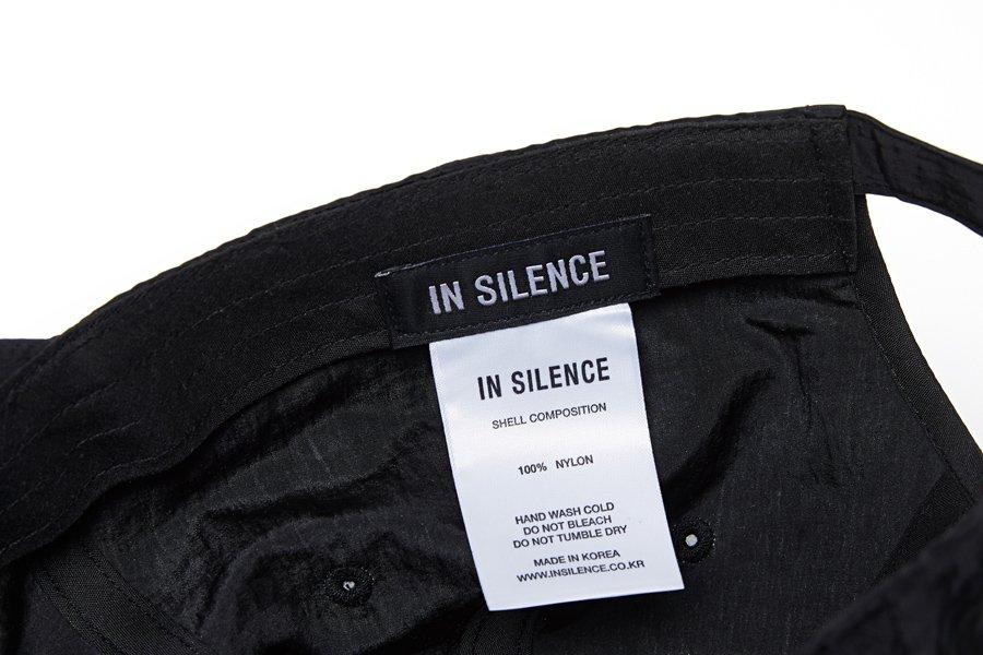 인사일런스(INSILENCE) 나일론 볼캡 BLACK
