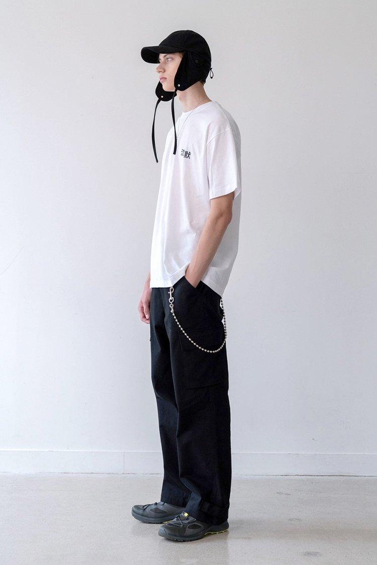 인사일런스(IN SILENCE) 카고 포켓 치노팬츠 BLACK