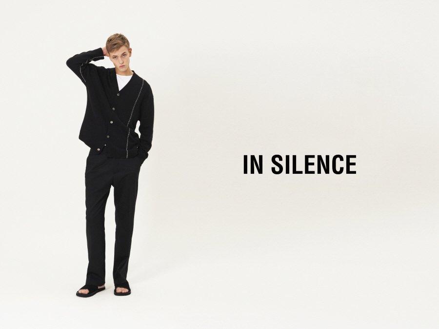 인사일런스(IN SILENCE) 와이드 슬랙스 BLACK