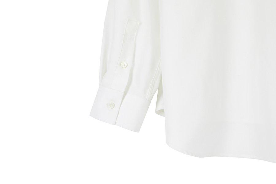 인사일런스(INSILENCE) 텐셀 튜닉 긴팔 셔츠 WHITE