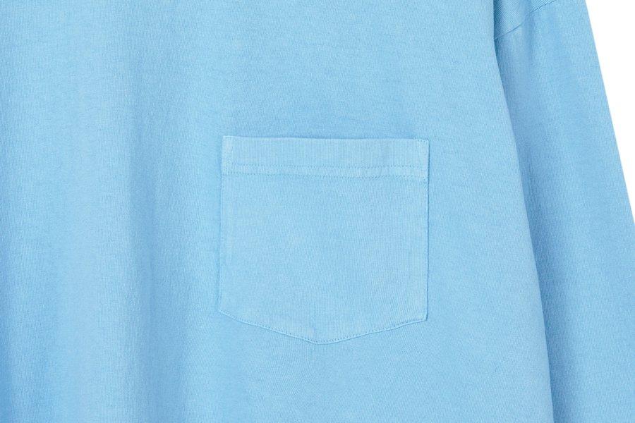 인사일런스(IN SILENCE) 가먼트 다잉 롱 슬리브 BLUE