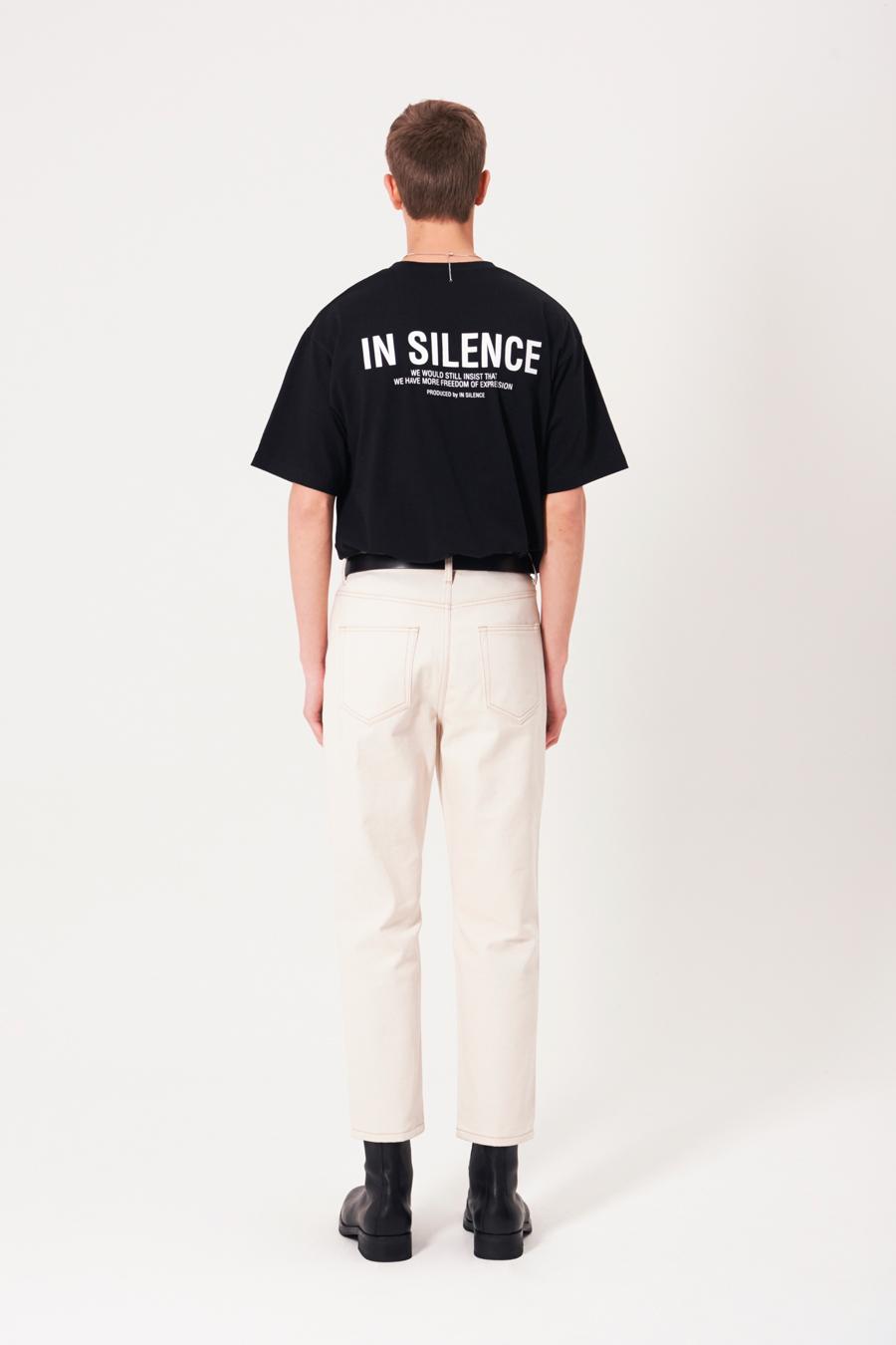 인사일런스(INSILENCE) OG 로고 티셔츠 BLACK
