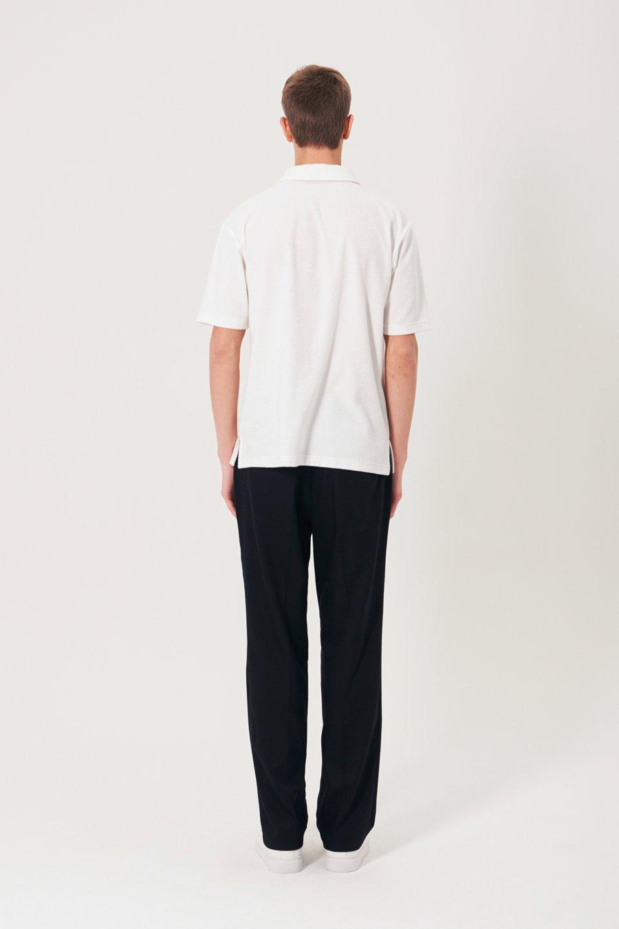 인사일런스(IN SILENCE) 타월 폴로 셔츠 WHITE