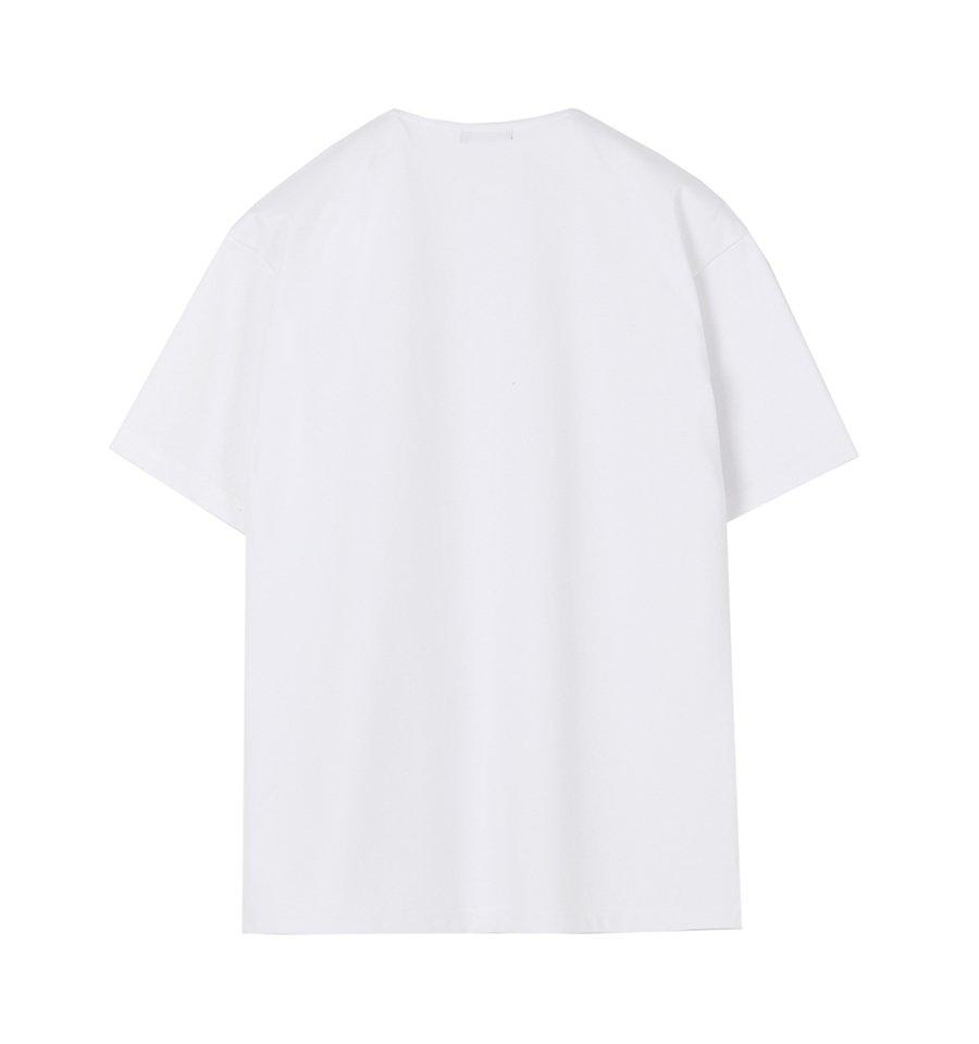 인사일런스(IN SILENCE) 노치넥 티셔츠 WHITE