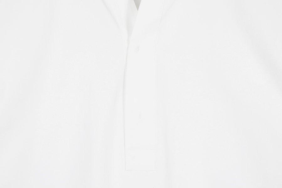 인사일런스(IN SILENCE) 노치넥 튜닉 셔츠 WHITE