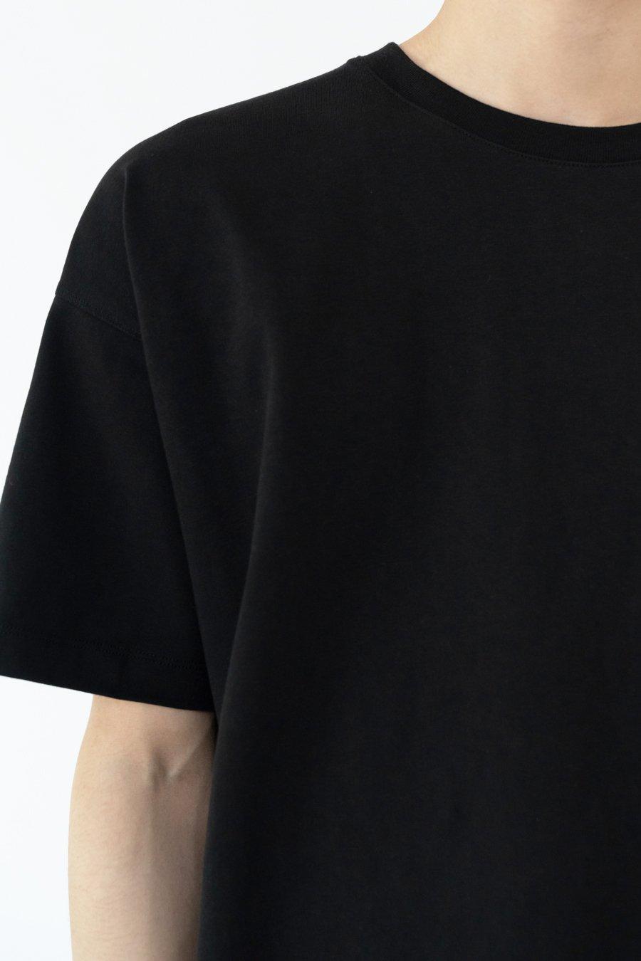 인사일런스(IN SILENCE) 프리미엄 오버사이즈 티셔츠 BLACK