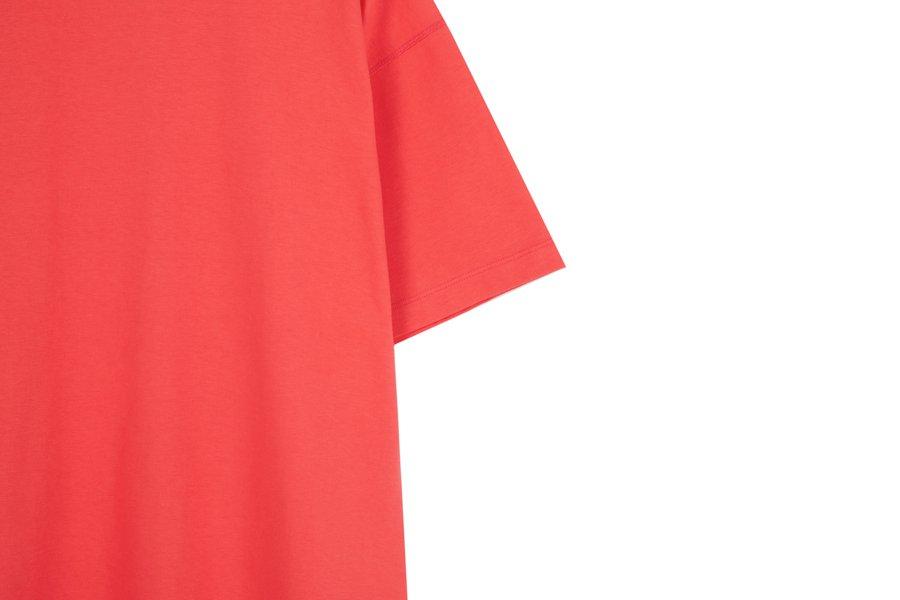 인사일런스(IN SILENCE) 프리미엄 오버사이즈 티셔츠 SCARLET